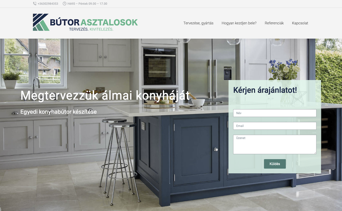 weboldal készítése honlap készítés